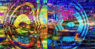Violet Dream Spiral Poster