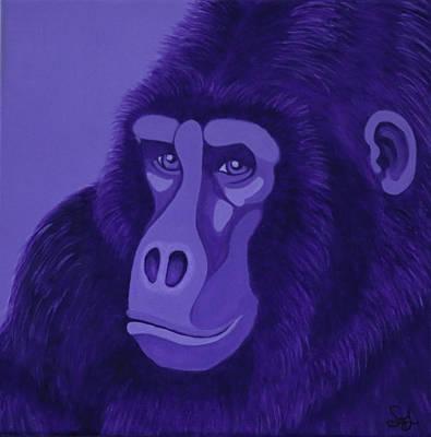Violet Gorilla Poster