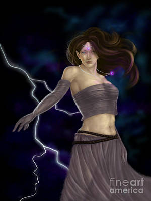 Poster featuring the digital art Violet Magic by Amyla Silverflame