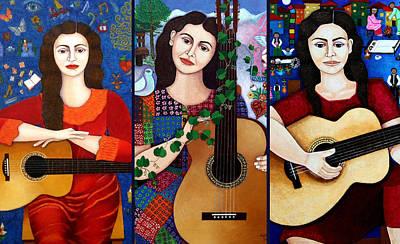 Violeta Parra Collage  Poster by Madalena Lobao-Tello