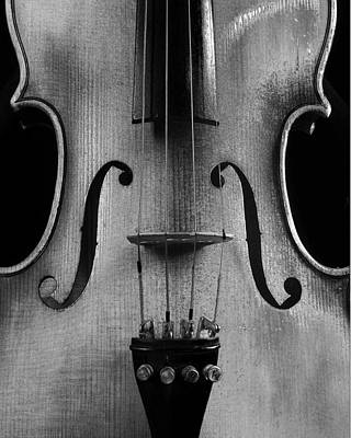 Poster featuring the photograph Violin # 2 Bw by Jim Mathis