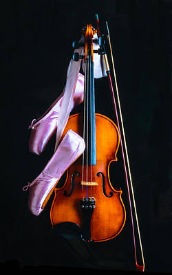 Violin And Pointe Shoes Poster