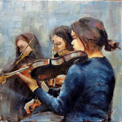Violin Practice Poster by Donna Shortt