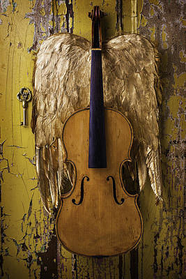 Violin With Wings Poster