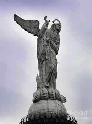Virgen De El Panecillo - Quito Ecuador Poster by Al Bourassa