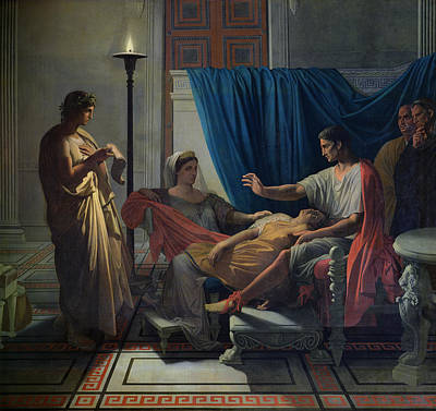 Virgil Reading The Aeneid Poster by Jean Auguste Dominique Ingres