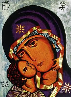 Virgin Of Tenderness II Poster by Ryszard Sleczka
