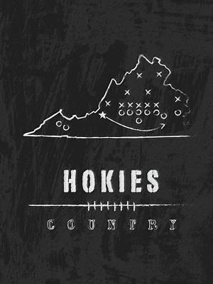 Virginia Tech Hokies Country Poster