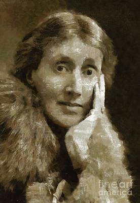 Virginia Woolf By Mary Bassett Poster