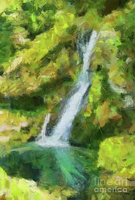 Virje Waterfall Poster by Dragica Micki Fortuna