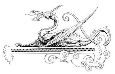 Viserion Logo Poster by Richard Hescox