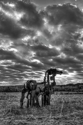 Visible Lights 2 Bw The Iron Horse Sunrise Art Poster by Reid Callaway