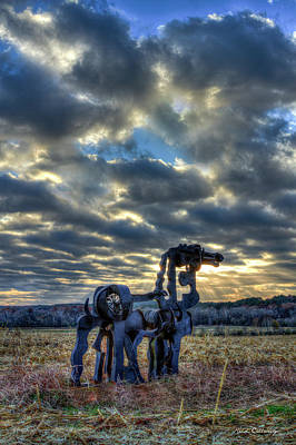 Visible Light The Iron Horse Sunrise Art Poster by Reid Callaway
