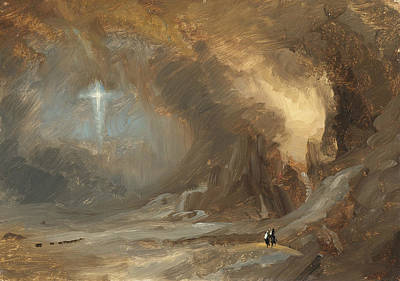 Vision Of The Cross Poster by Frederic Edwin Church