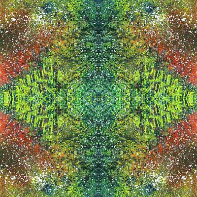 Visions Of The Spiritual Seeker #1463 Poster by Rainbow Artist Orlando L aka Kevin Orlando Lau