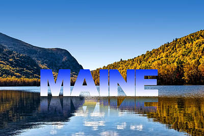 Poster featuring the photograph Visit Maine by Gary Smith
