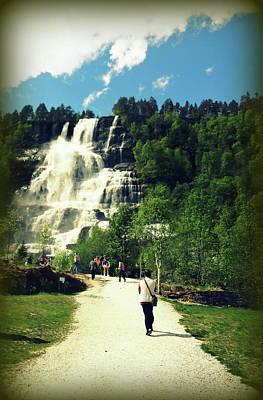 Visit To Tvindefossen Falls Poster