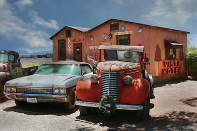 Poster featuring the photograph Vista Motel by Lori Deiter