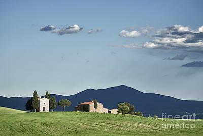 Vitaleta Chapel In Val D'orcia, Tuscany Poster