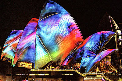 Poster featuring the photograph Vivid Festival, Sydney by Wallaroo Images