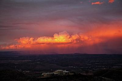 Poster featuring the photograph Vivid Verde Valley Sunset by Ron Chilston