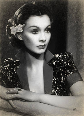 Vivien Leigh Poster by Joaquin Abella