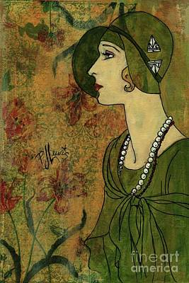 Poster featuring the painting Vogue Twenties by P J Lewis