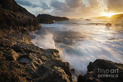 Volcanic Rock Sunrise Poster by Ernesto Ruiz