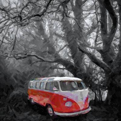 Volkswagen Camper Van Poster by Tilly Williams