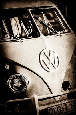 Poster featuring the photograph Volkswagen Vw Bus Emblem -1355s by Jill Reger
