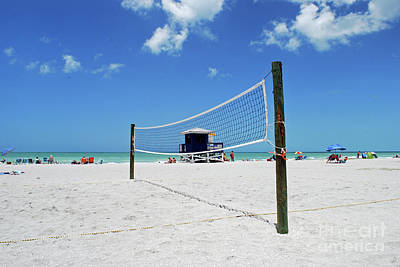 Poster featuring the photograph Volley Ball On The Beach by Gary Wonning