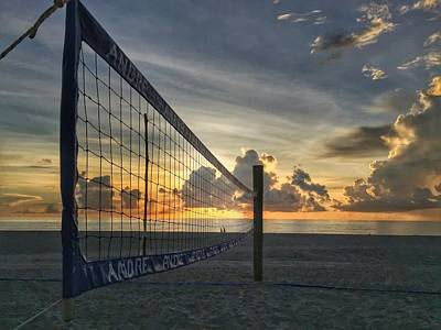 Volleyball Sunrise Poster