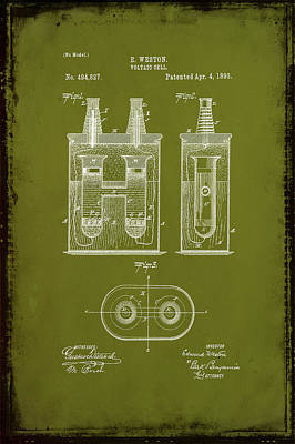 Voltaic Cell Patent Drawing 1c Poster
