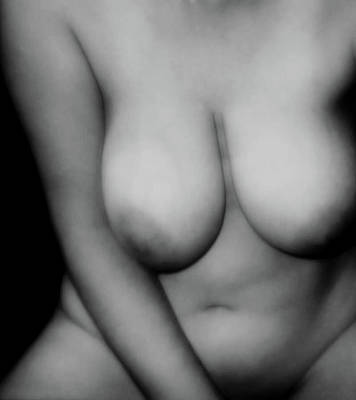 Voluptuous In Black And White Poster by James Barnes