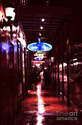 Voodoo Blues On Bourbon Street Poster