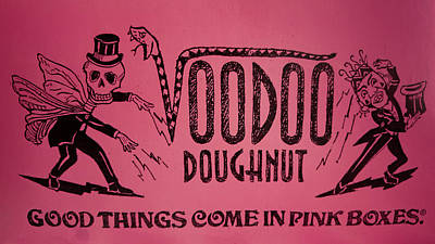 Voodoo Doughnut Come In Pink Boxes Poster