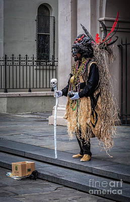 Voodoo Man In Jackson Square - Nola Poster