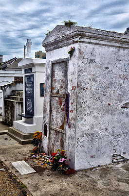 Voodoo Queen Marie Laveau's Tomb Poster by Bill Cannon
