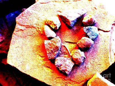 Vortex Heart Red Rocks Poster