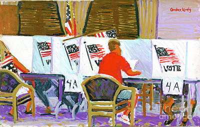 Voting On Hilton Head Island 2004 Poster by Candace Lovely