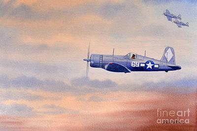 Vought F4u-1d Corsair Aircraft Poster by Bill Holkham