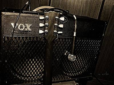 Vox Amp Poster by Chris Berry