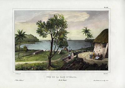 Vue De La Baie Dumata Umatic Bay Poster by dUrville duSainson