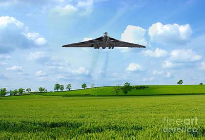 Vulcan Bomber Gods Country Poster by J Biggadike