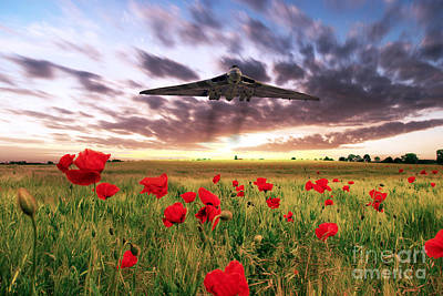 Vulcan Poppy Fly Past Poster by J Biggadike