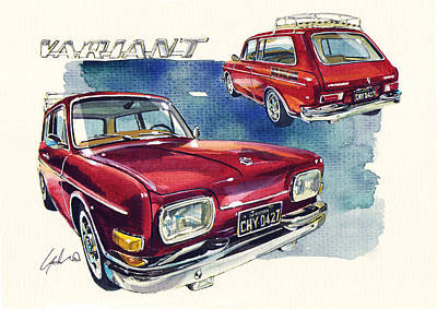 Vw 1600 Variant Poster by Yoshiharu Miyakawa