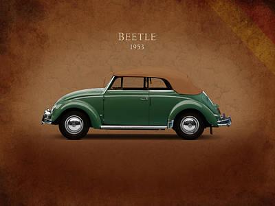 Vw Beetle 1953 Poster by Mark Rogan