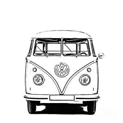 Vw Bus T-shirt Poster by Edward Fielding