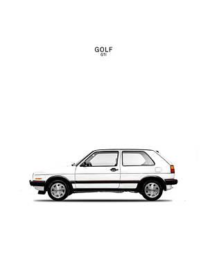 Vw Golf Gti Poster by Mark Rogan