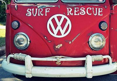 Vw Surf Bus Poster by Laurie Perry